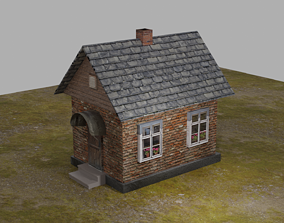 Beautiful house 3D model low-poly