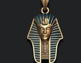 3D printable model Pharaoh pendant with enamel