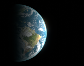3D model game-ready Photorealistic Earth