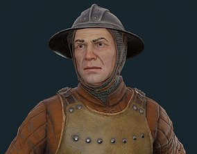 3D asset Medieval Knight Sergeant Low-poly