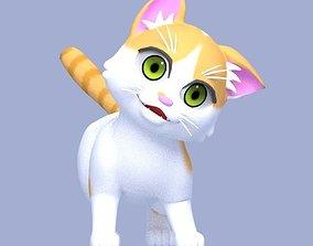 3D model rigged Cartoon Cat