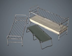 3D model Bed and Cot