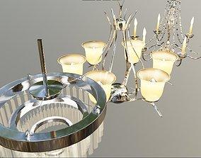 3D model 3 different chandelier