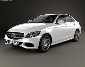 Mercedes-Benz C-Class W205 sedan with HQ 3D model 1
