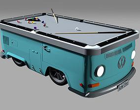 3D model Snooker table - Volkswagen kombi