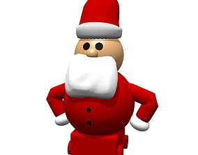 3D asset Saint Claus Toy