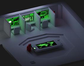 Among Us Low poly Admin 3D asset