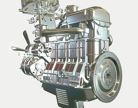 Car Benzine Engine 3D model