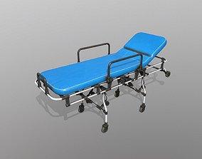 wheel Hospital Bed 3D model