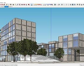 Sketchup Shopping mall E4 3D model