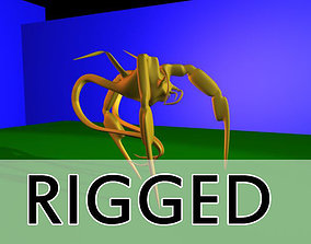 Spider Creature Rigged 3D asset