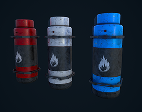 3D asset Sci Fi Canister