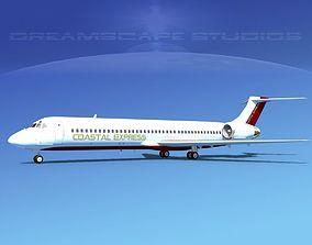 3D model McDonnell Douglas MD-87 Coastal Express