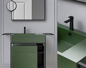 Washbasins Furniture 3d model low-poly