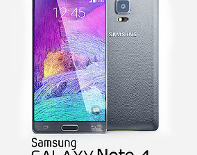 Samsung Galaxy Note 4 Black 3D