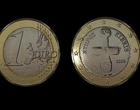 1 Euro Coin - Cyprus 3D asset