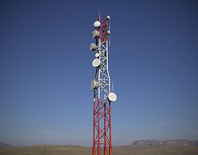 3D asset Telecommunications Tower PBR