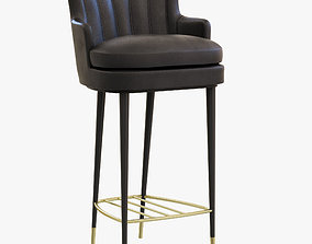 Brabbu Plum Bar Chair 3D