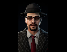 3D model 1950s Businessman Mafia Character NPC Rigged