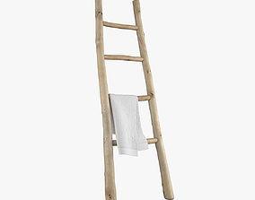 3D model Wooden ladder