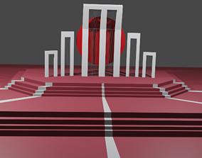 3D model shahed minar