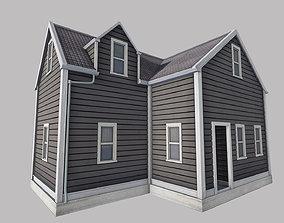 Boston House 3D model low-poly