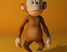 Cartoon monkey RIGGED 3D asset