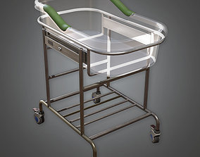 Hospital Baby Bed HPL - PBR Game Ready 3D asset