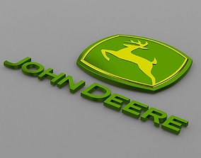 3D john deere logo
