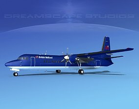 3D model Fokker F-60 British Midland