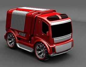 3D printable model fire truck toys