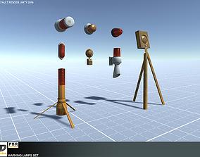 3D model Warning Lamps Set