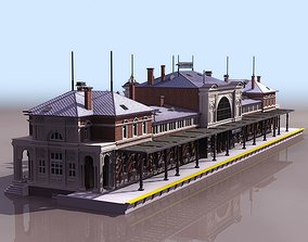 train railway station 3D model