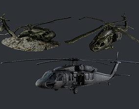 3D model Sikorsky UH60 Black Hawk Military Helicopter 3