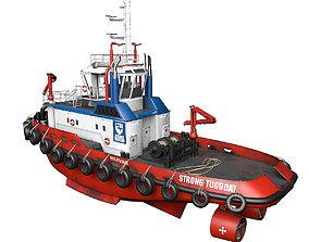 Tugboat lowpoly 3D model