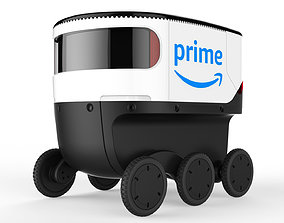 3D other Delivery Robot White