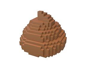 3D asset Pixel Pile of Poo v1 001