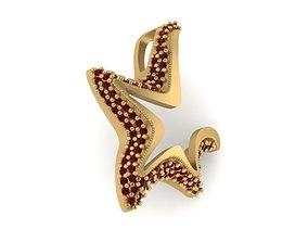 Starfish pendant model with diamonds