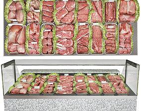 Meat showcase 3D model