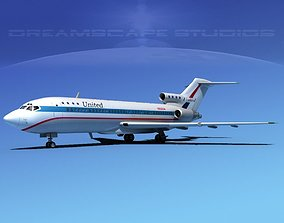Boeing 727-100 United Airlines 2 3D model