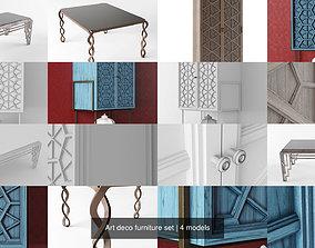 Art deco furniture set 3D