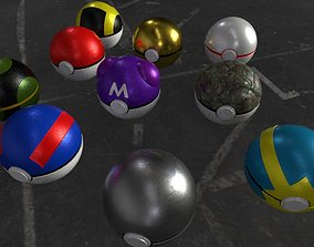 3D model Collection Pokeball