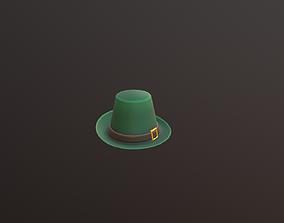 3D asset low-poly low poly Hat