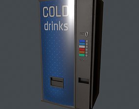 Cold Drinks Vending Machine 3D asset