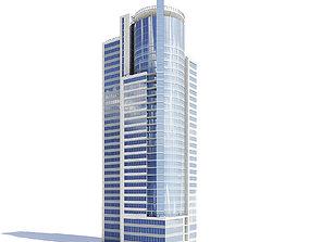 Skyscraper with Helipad 3D Model