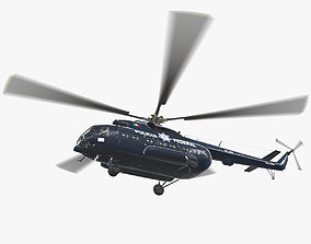 3D asset Mi-17 Mexican Police Animated