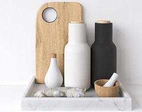 Decor Set Kitchen Menu Grinder 3D model