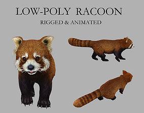 3D asset racoon palm civet panda civet