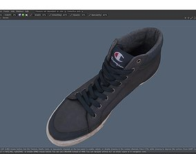 realtime Sneaker Low-Poly 3D Model