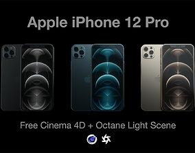 iPhone 12 Pro - Octane Scene 3D model telephone